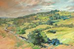 "Hill of Slane. Oil on board. 30"" x 40""."