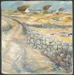 """Connemara Landscape. Oil pastel on board. 24"""" x 20""""."""