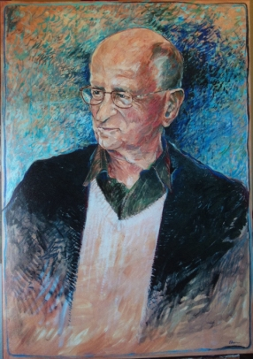 Otto F. Kernberg, M.D.. Professor of Psychiatry, Weill Cornell Medical College NY. Oil on board.