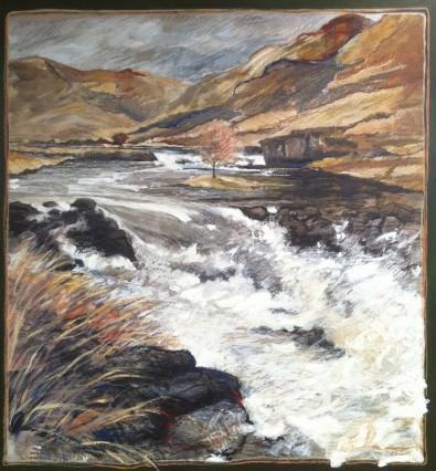 Delphi River. Oil on board. 900mm x 800mm