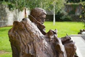 Francis Ledwidge 1887-1917. Bronze sculpture. 1000mm x 1200mm x 1200mm. Slane Village Space.