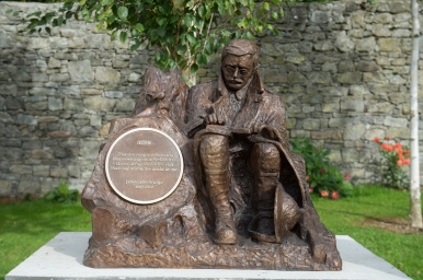 Francis Ledwidge 1887-1917. Bronze sculpture. 1000mm x 1200mm x 1200mm. Slane Village Space.
