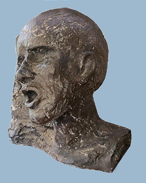 Bronze head.